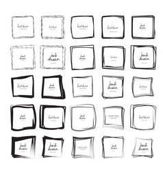 Hand drawn square frames vector