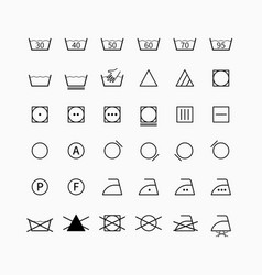 Laundering and drycleaning symbols vector