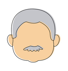 man face male person character profile people vector image