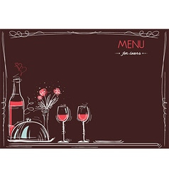 Menu card for loversLove card romantic dinner vector image