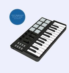 Mini keyboard sketch vector