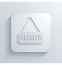 Modern closed light icon vector