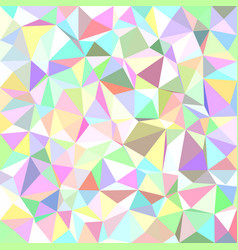 Multicolored triangle tiled background - polygon vector