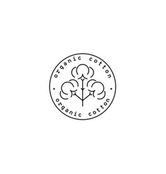natural cotton rubber stamp vector image