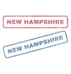 New hampshire textile stamps vector