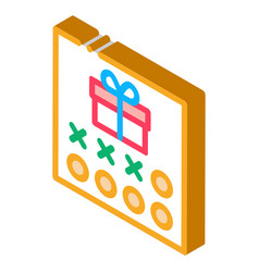 Number needed to receive gift isometric icon vector