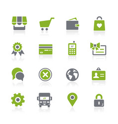 Online store icons natura series vector
