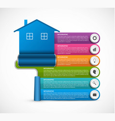 options infographics design options banner house vector image