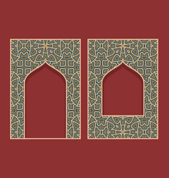 Ornamental frames in form arabic door vector