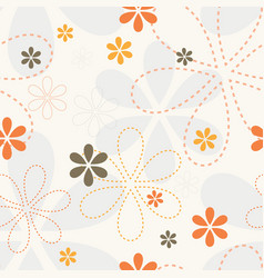 ornamental petal flower endless vector image