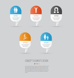 person icons set collection of beloveds ladder vector image