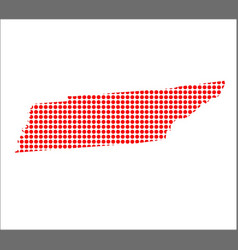 Red dot map of tennessee vector