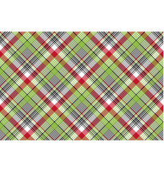 Red green check fabric texture seamless background vector