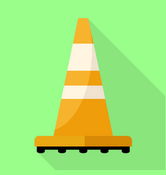 road cone icon flat style vector image