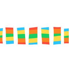 seamless border doodle block stripes vector image