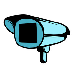 Security camera icon cartoon vector