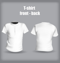 shirt front and back on a gray background stylish vector image