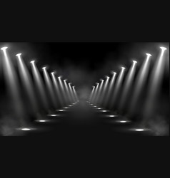 Spotlights background glowing stage light beams vector