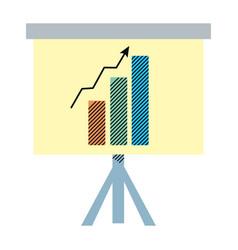 Statistics bar precentation graphic growing vector