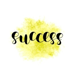 Success Brush lettering vector image