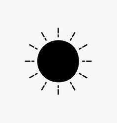 sun weather sunset sunrise summer glyph icon vector image