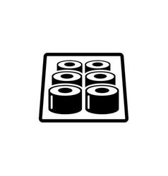 sushi roll sashimi maki flat icon vector image