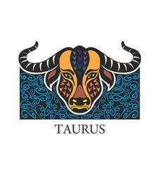 taurus horoscope sign vector image
