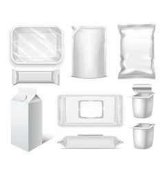 Template blank realistic packge set vector