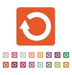 The refresh icon Loading symbol Flat vector