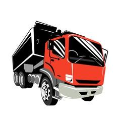 tipper dump truck lorry vector image