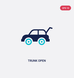 Two color trunk open icon from gaming concept vector