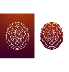 Vintage lion label Retro design graphic vector image