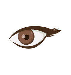 white background with female eye vector image