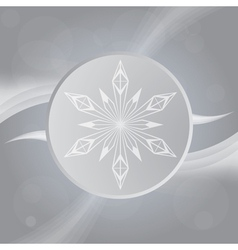 Winter Gray background with snowflake vector image