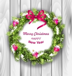Christmas Wreath with Balls New Year and vector image vector image