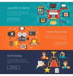 Movie Banner Horizontal vector image vector image