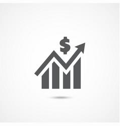 profit icon on white vector image