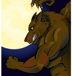 werewolf attacking vector image vector image