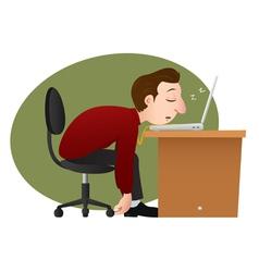 asleep bussinesman vector image
