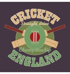 Cricket t-shirt graphic design England vector image