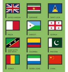 Flags flat set-07 vector image vector image