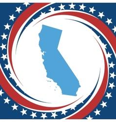 Vintage label California vector image