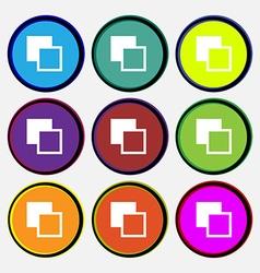 Active color toolbar vector image vector image