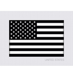 Black and white american flag icon vector