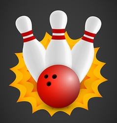 Bowling icon vector image
