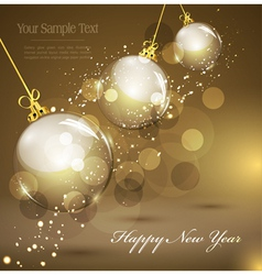 new years gold vector image vector image