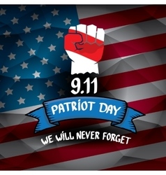 Patriot Day USA background vector image