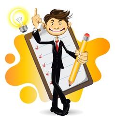Smart Businessman vector image