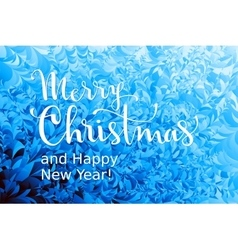 Merry Christmas and Happy New Year Lettering on vector image vector image