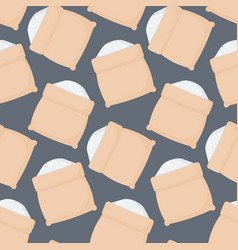 rice sack seamless pattern vector image